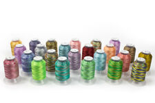24 Spools Variegated Embroidery Machine Thread - STUNNING COLORS