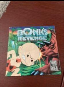 Bonks Revenge Manual PC Engine Duo Turbo Turbografx-16 Turboexpress 1C