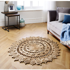 New Circle Round Rug Soft Handcrafted Living Room Bedroom Carpet Floor Mat Rugs