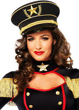 Sexy Army Marine Military Commissioned Officer Hat Costume Accessory Halloween
