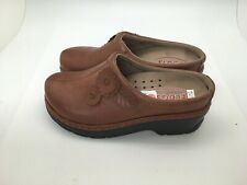 Klogs USA Brown Slip On Clogs Shoes Women 7D