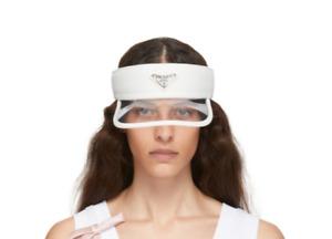 Authentic VERY RARE - PRADA PVC Visor Hat - White Size XS