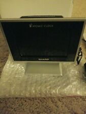 Sharp SPC569 Atomic LCD Tabletop Alarm Clock NEW Open Box