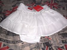 NEW Girls Esprit 2 Piece Skirt Set White 12 Months Lined  Frill RRP $39.95