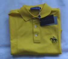 "RALPH LAUREN Purple Label Polo Made in Italy ""Bright Yellow"" Taille XL"