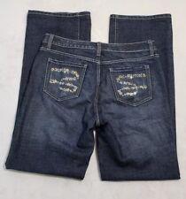 Seven 7 Premium Denim Dark Wash Stretch Mid-Rise Flare Jeans Women's Size 8 EUC