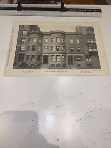 1890 American Architect Building News Marlboro St Boston Mass