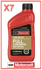 7 X Quarts OEM Full Synthetic Engine Motor Oil FORD/Motorcraft SAE 5W-20
