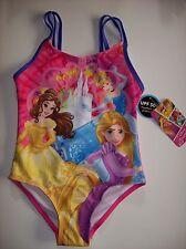 Disney Princess Swimsuit/Swimwear One-Piece Girls Sz XS 4-5 Pink Purple NWT