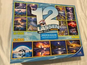 Christian RIESE Lassen TIGER horse WHALE dolphin beach Ocean 12 PUZZLE lot New