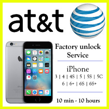 FACTORY UNLOCK SERVICE AT&T FOR APPLE IPHONE 7 SE 6S 6 5S 5 4S 3GS PREMIUM SPEED