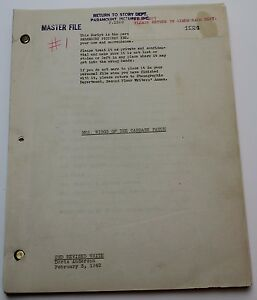 MRS. WIGGS OF THE CABBAGE PATCH / 1942 original Master File Screenplay