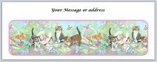 30 Personalized Return Address Labels Cats Buy 3 get 1 free (ct229)