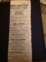 H2-1 Ephemera 1969 Dreamland Margate Advert Desmond Dekker The Stafford Oh What