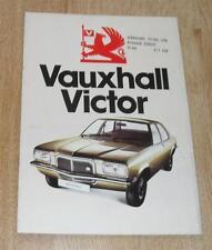 VAUXHALL VICTOR BROCHURE 1974 1800 2300 SALOON ESTATE