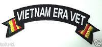 "'' VIETNAM ERA VET ""  Military Veteran Biker Ribbon Rocker Patch P3581 E"