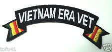 "'' VIETNAM ERA VET ""  Military Veteran Biker Ribbon Rocker Patch P3581 E"