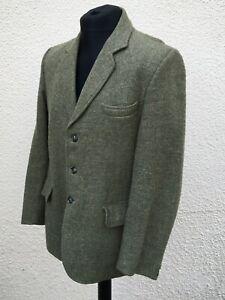 "Vintage Harris Tweed Field Classics Green Tweed Blazer Jacket 42"" Chest"