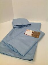 H208855 Home Reflections 800Tc Easy Care Sheet Set Queen Sheets Blue New