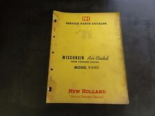 New Holland Wisconsin VG4D Air Cooled Four Cylinder Engine Service Parts Catalog