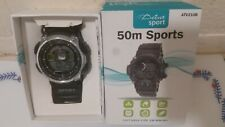 Active Sport 50m Sports Watch Digital Swimming Water Resistant ATV210B Black