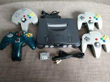 Nintendo 64 Charcoal Grey Console Bundle 4 controllers