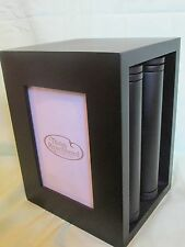 "NEW THINGS REMEMBERED ENGRAVABLE BLACK PICTURE/PHOTO ALBUM & CUBE FRAME 4""x6"""