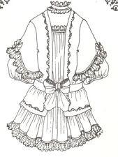 "Sewing Pattern fits 24-24"" Doll Dress Victorian German French Bjd 185"