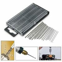 20Pcs 0.3mm-1.6mm HSS Mini Micro Twist Precision Drill Craft Bit Set + Tool A1N2