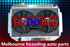 RACE Alloy Radiator&Fan HOLDEN HQ HJ HZ HX LH LX Kingswood Torana V8 253 308 AT