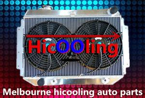RACE Alloy Radiator&Fan HOLDEN HQ HJ HZ HX LH LX Kingswood Torana V8 253 308 AT