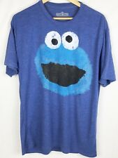Sesame Street Cookie Monster Adult TShirt Distressed Graphic Size XL