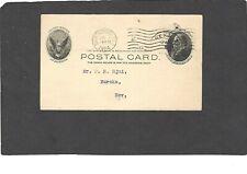UX18 1c McKINLEY POSTAL CARD-USED-1904 SAN FRANCISCO TO EUREKA,NEV