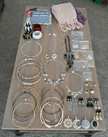 Costume Jewelry 46 Pc BULK Lot Chokers Rings Pendants Necklaces etc + FREE GIFTS
