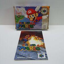 SUPER MARIO 64 (NINTENDO 64) BOX + BOOKLET ONLY (NO GAME) LOOK DESCRIPTION (C190