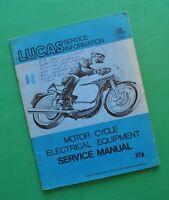 1950s-70s Lucas Electrical Motorcycle Service Manual Book BSA Norton Triumph AJS