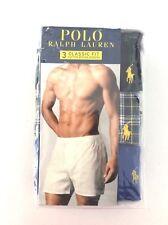 Polo Ralph Lauren 3 PACK/SET 100% Cotton WOVEN BOXER Classic Fit LARGE L