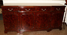 Flashy Flame Mahogany Chippendale Sideboard Server Buffet Huge Storage MINT