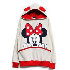 Womens Mickey Minnie Hoodie Sweatshirt Casual Long Sleeve Pullover Coat Blouse