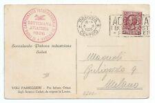 ITALIA 1926 CARTOLINA SETTIMANA AVIATORIA PADOVA VIAGGIATA