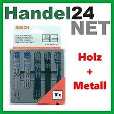 BOSCH Stichsägeblätter Set Holz / Metall 10 Stück T-Schaft 2607010148