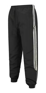 Mens Tracksuit Bottoms Striped & Cargo Jogging Trousers Sport Gym Zip Pocket New