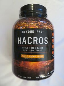 Beyond Raw Macros Whole Food Meal Supplement Maple Brown Sugar 4.44 lb 48 Ser @O