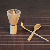 Bamboo Chasen Matcha Powder Whisk Tool Scoop Spoon Japanese Tea Ceremony Set