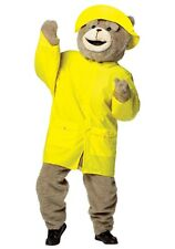 Adult Ted 2 Official Mascot Halloween Cosplay Costume Rain Slicker And Hat Kit