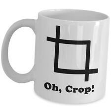Funny Cute Gift For Graphic Designer - Oh Crop Coffee Mug CG Artist Illustrator