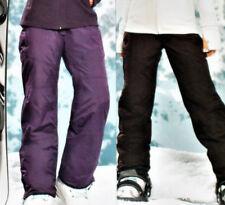 Damen SKIHOSE Snowboardhose Schneehose Gr.36 38 40 42 lila/dunkelbraun NEU