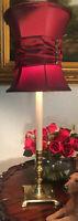"Rare Vintage Rembrandt Brass Candlestick Table Lamp 21"""