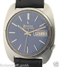 BULOVA ACCUTRON-Diapason movimento dell'orologio-orologio uomo in acciaio - 1970er anni