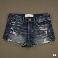 Hollister Womens Denim Short Shorts Jeans Destroyed by Abercrombie NWT